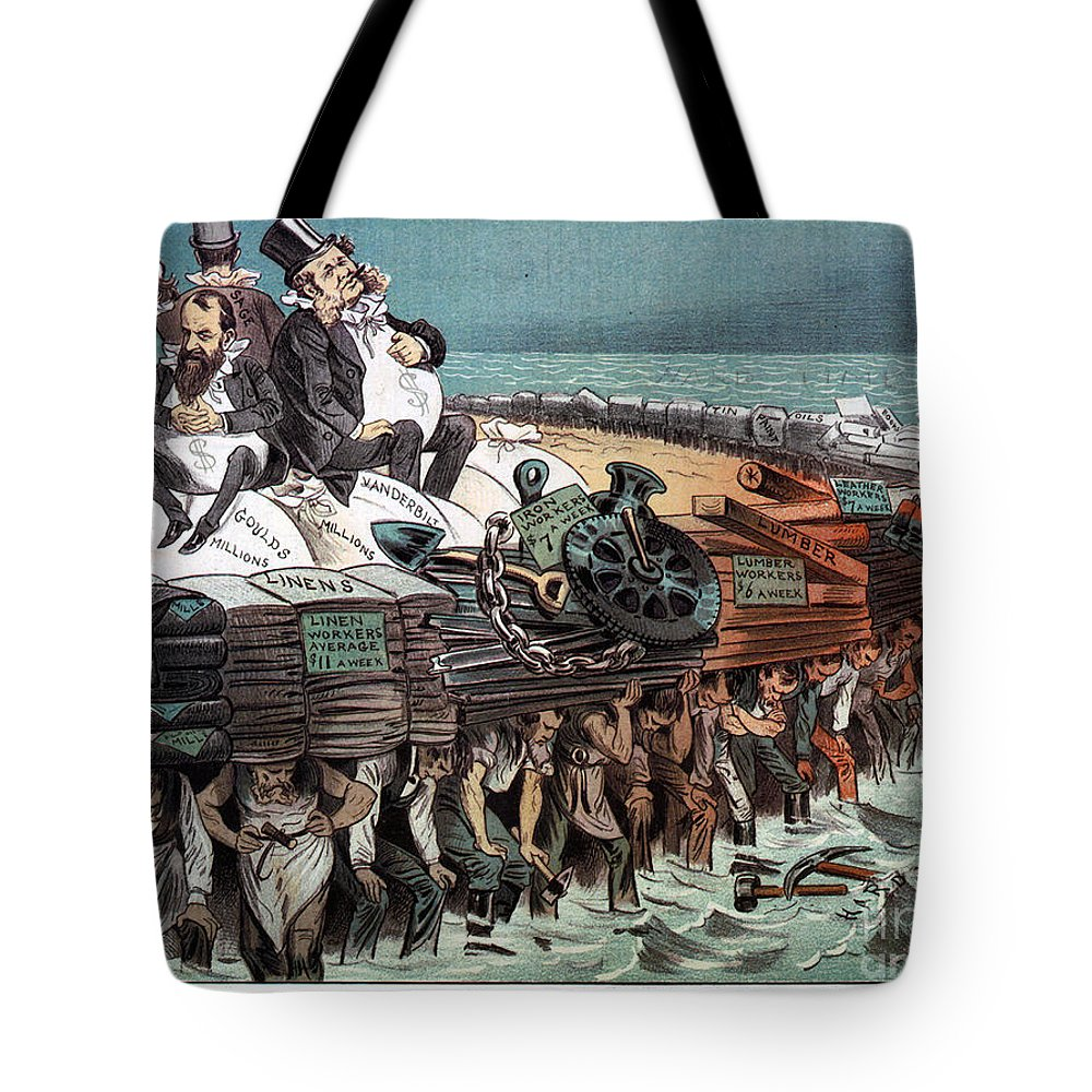 1883 Tote Bag featuring the photograph American Financiers, 1883 by Granger