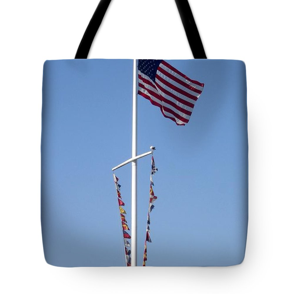 American Flag Tote Bag featuring the photograph American Flag by Shelley Jones