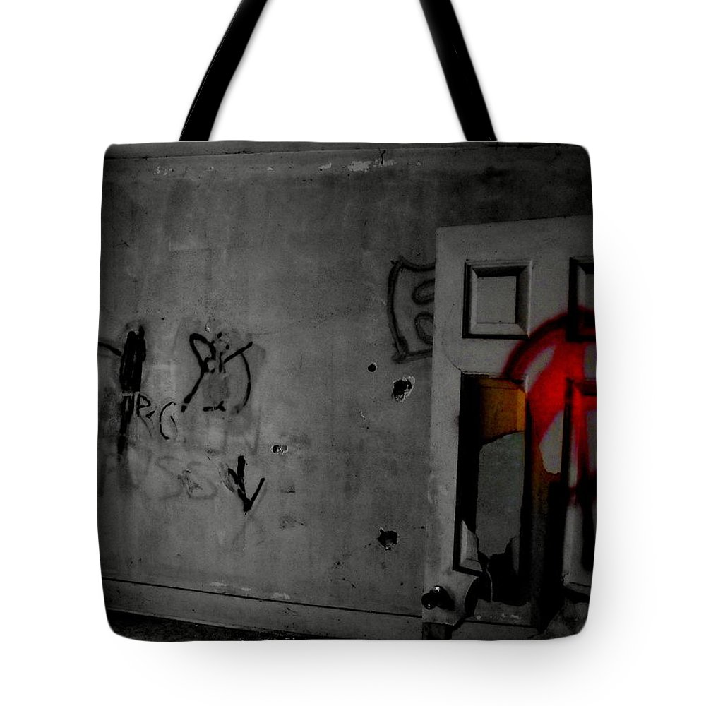 American Graffiti 6 Tote Bag featuring the photograph American Graffiti 6 - Virgin Sacrifice by Edward Smith