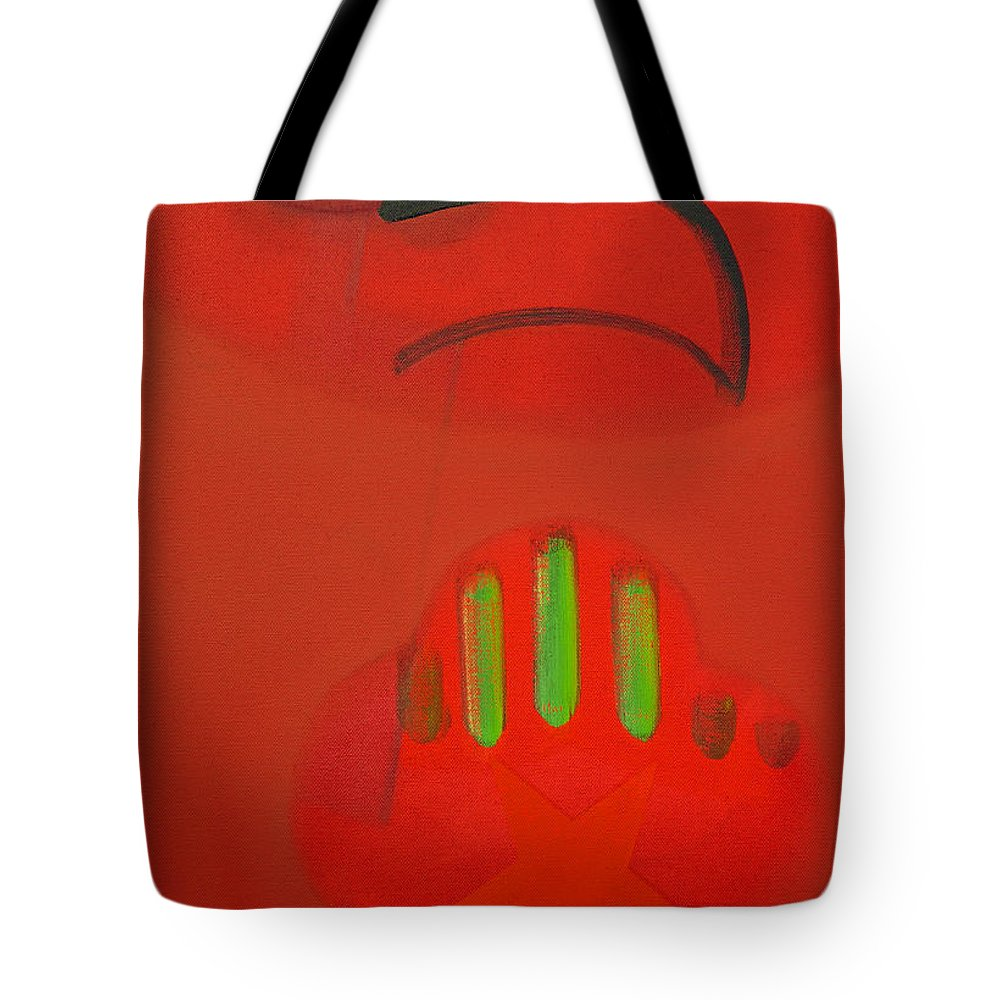 Native American Tote Bag featuring the painting American Hawk by Charles Stuart