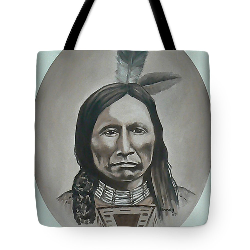 Michael Tote Bag featuring the painting American Horse by Michael TMAD Finney