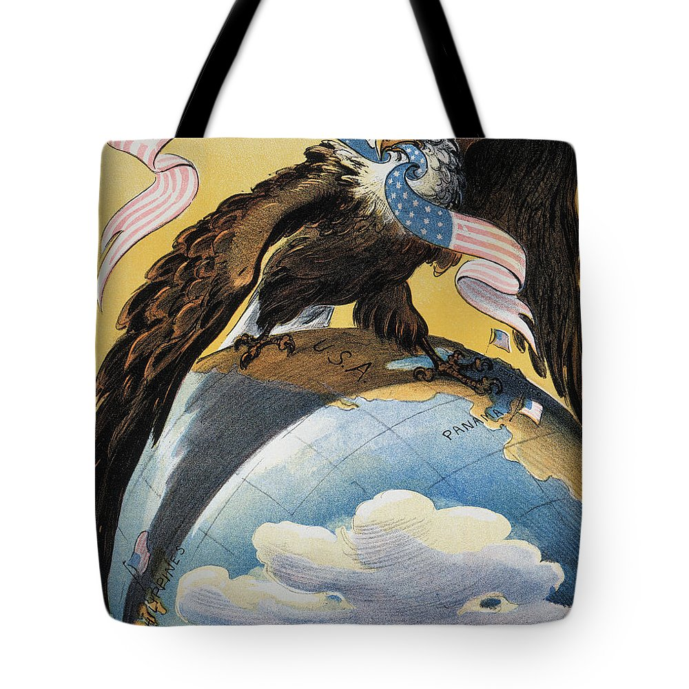 1904 Tote Bag featuring the photograph American Imperialism, 1904 by Granger