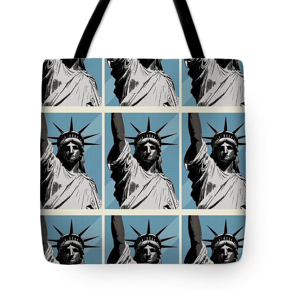 Graphic Design Tote Bag featuring the photograph American Liberty by Phil Perkins