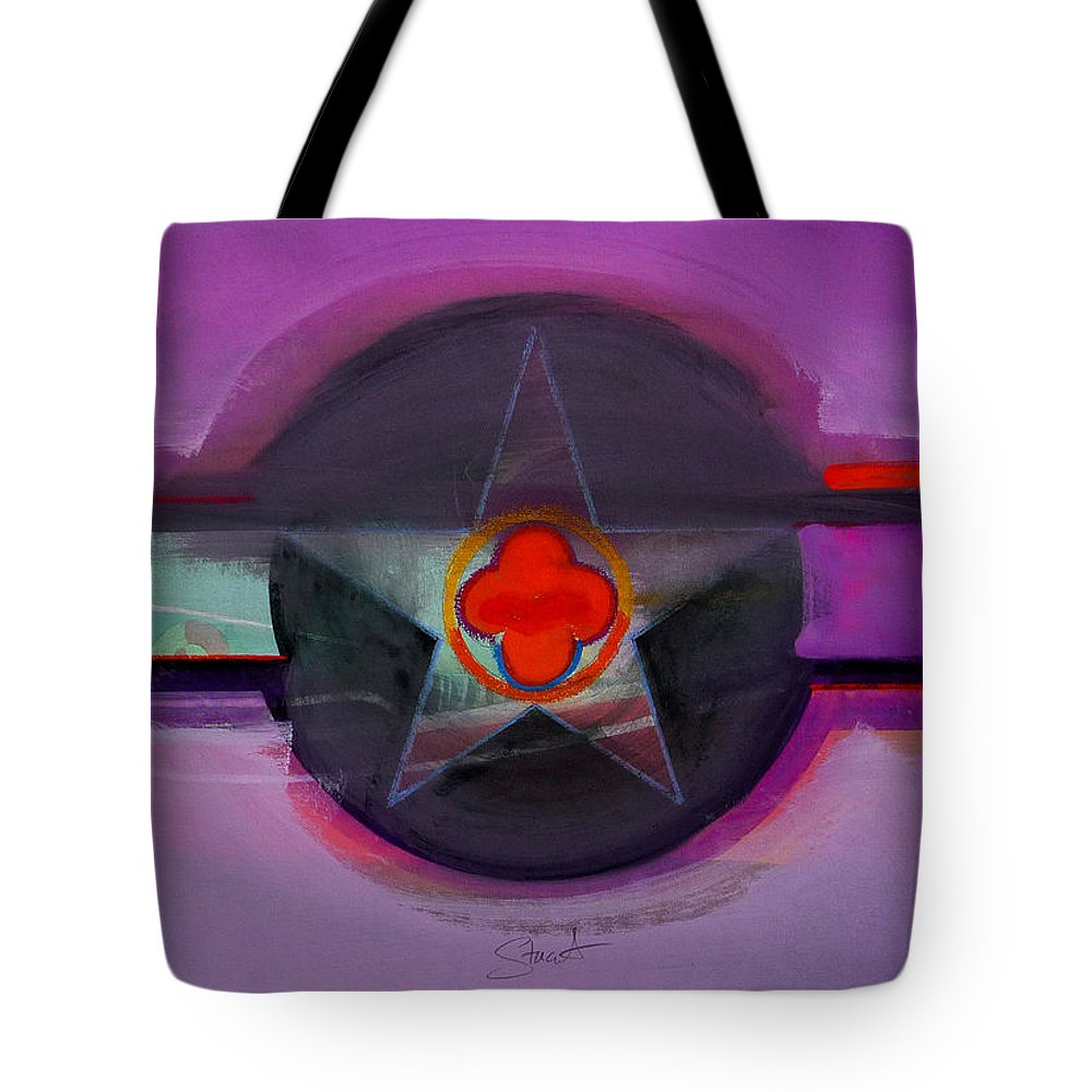 Star Tote Bag featuring the painting American Lilac by Charles Stuart