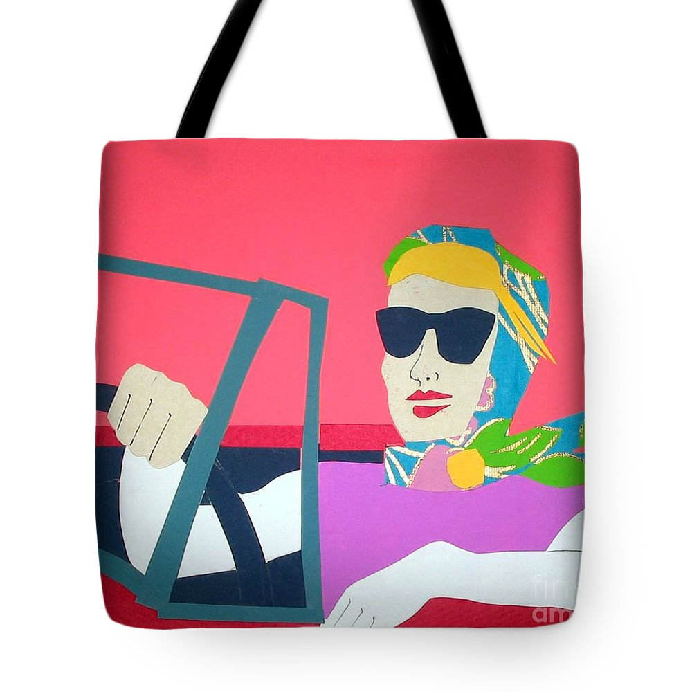 Scarf Tote Bag featuring the mixed media American Mask by Debra Bretton Robinson