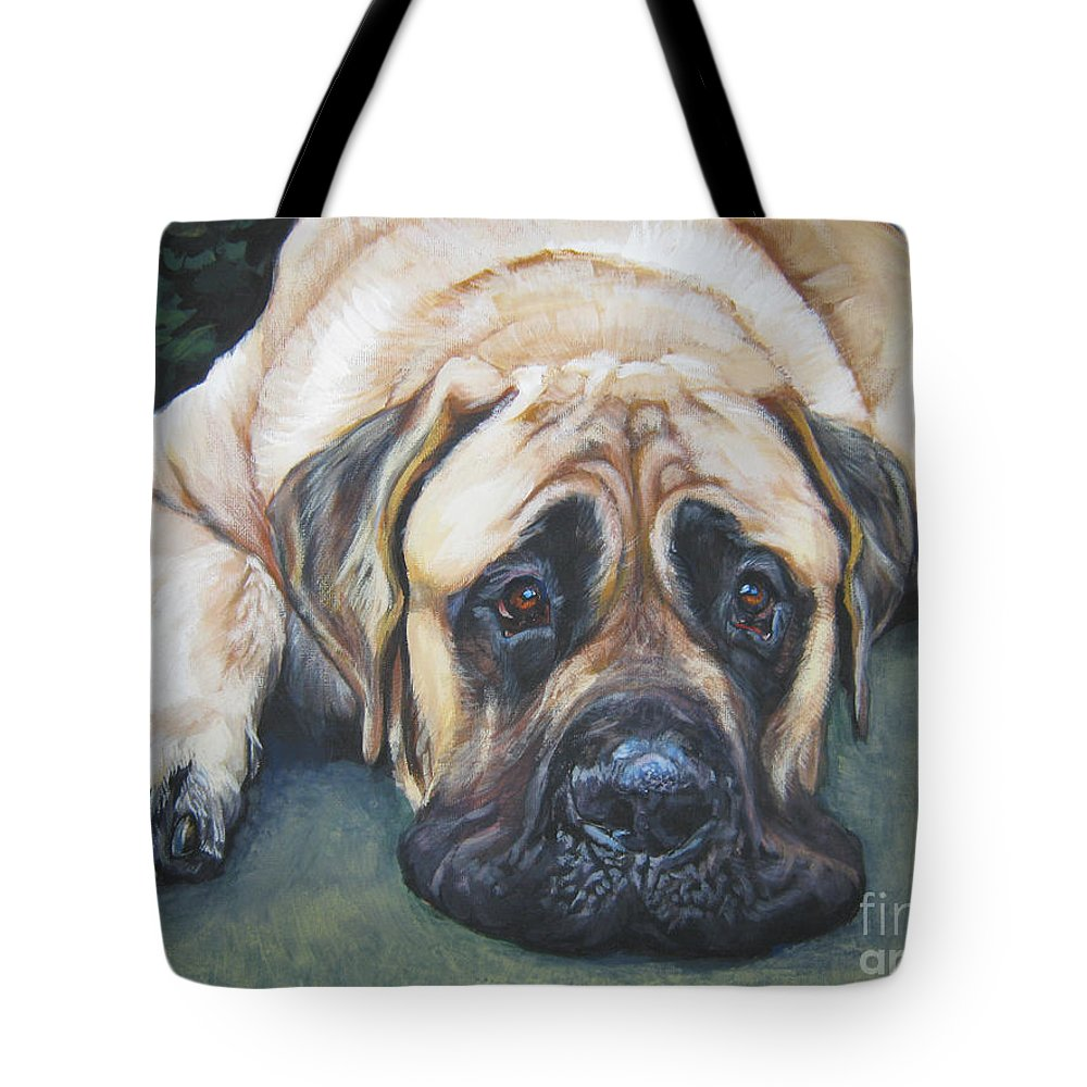 Dog Tote Bag featuring the painting American Mastiff by Lee Ann Shepard