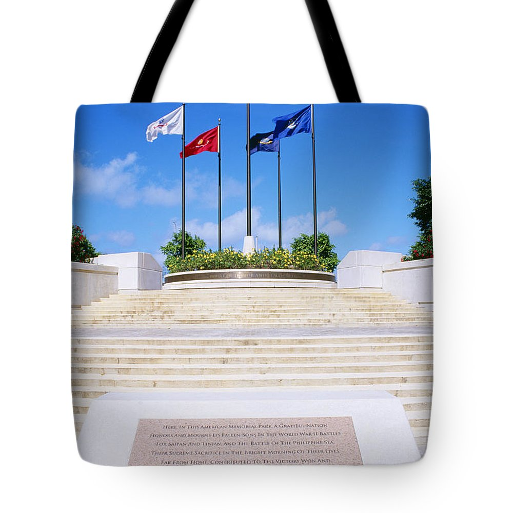 American Tote Bag featuring the photograph American Memorial Park by Greg Vaughn - Printscapes
