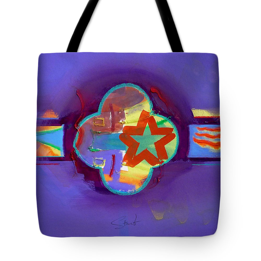 Star Tote Bag featuring the painting American Neon by Charles Stuart