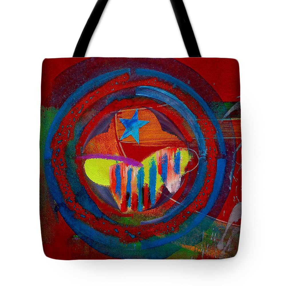Button Tote Bag featuring the painting American Pastoral by Charles Stuart