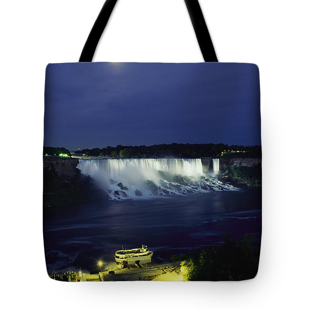 North America Tote Bag featuring the photograph American Side Of Niagara Falls, Seen by Richard Nowitz