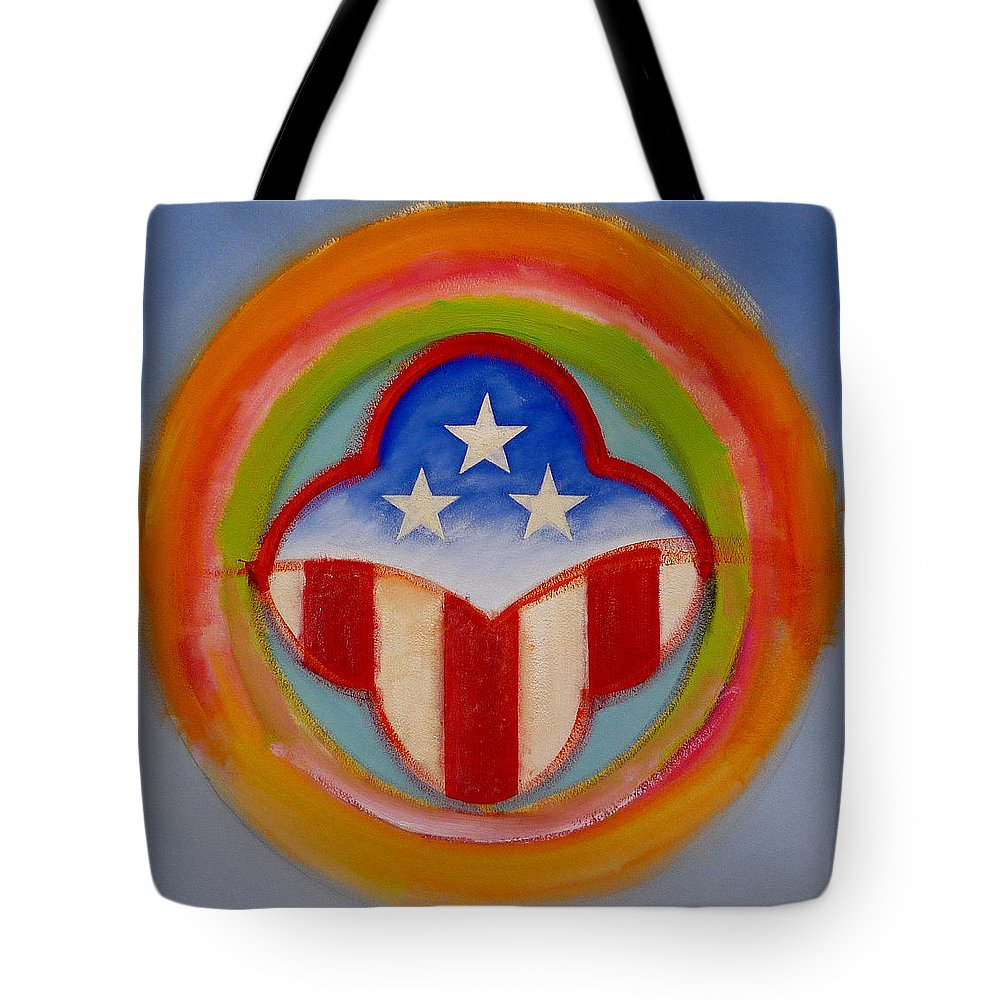 Logo Tote Bag featuring the painting American Three Star Landscape by Charles Stuart