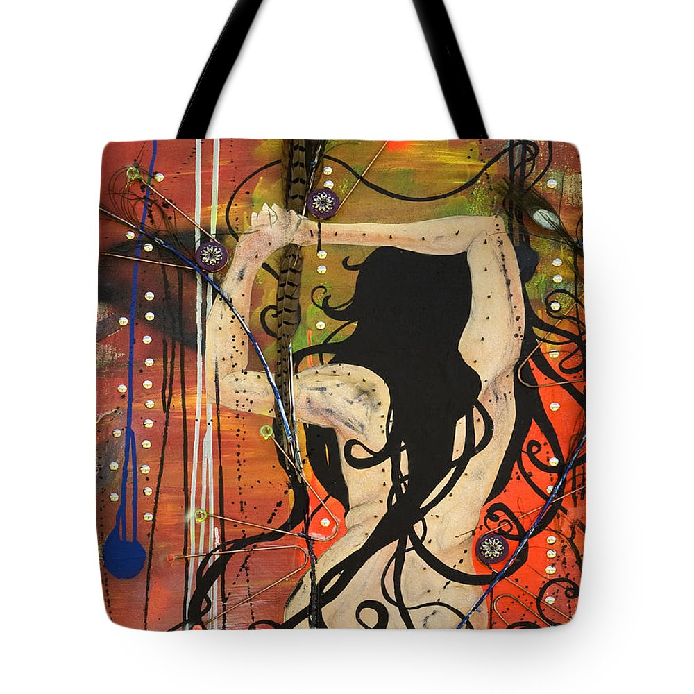 Woman Tote Bag featuring the painting American Witch by Sheridan Furrer