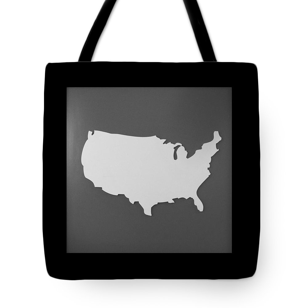 Black And White Tote Bag featuring the photograph Amerika by Rob Hans