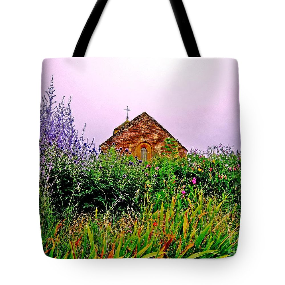 Chapel Tote Bag featuring the photograph Ameugny 3 by Jeff Barrett