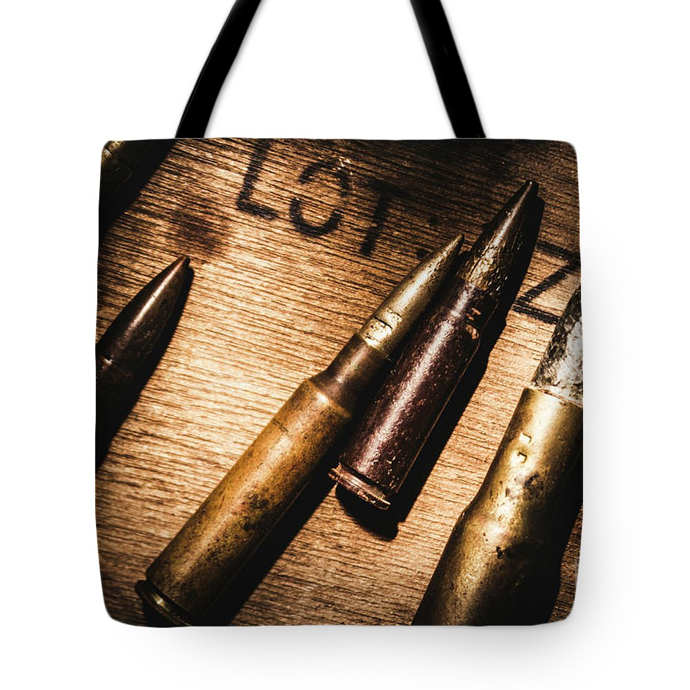 Ammo Tote Bag featuring the photograph Ammo Supplies by Jorgo Photography - Wall Art Gallery
