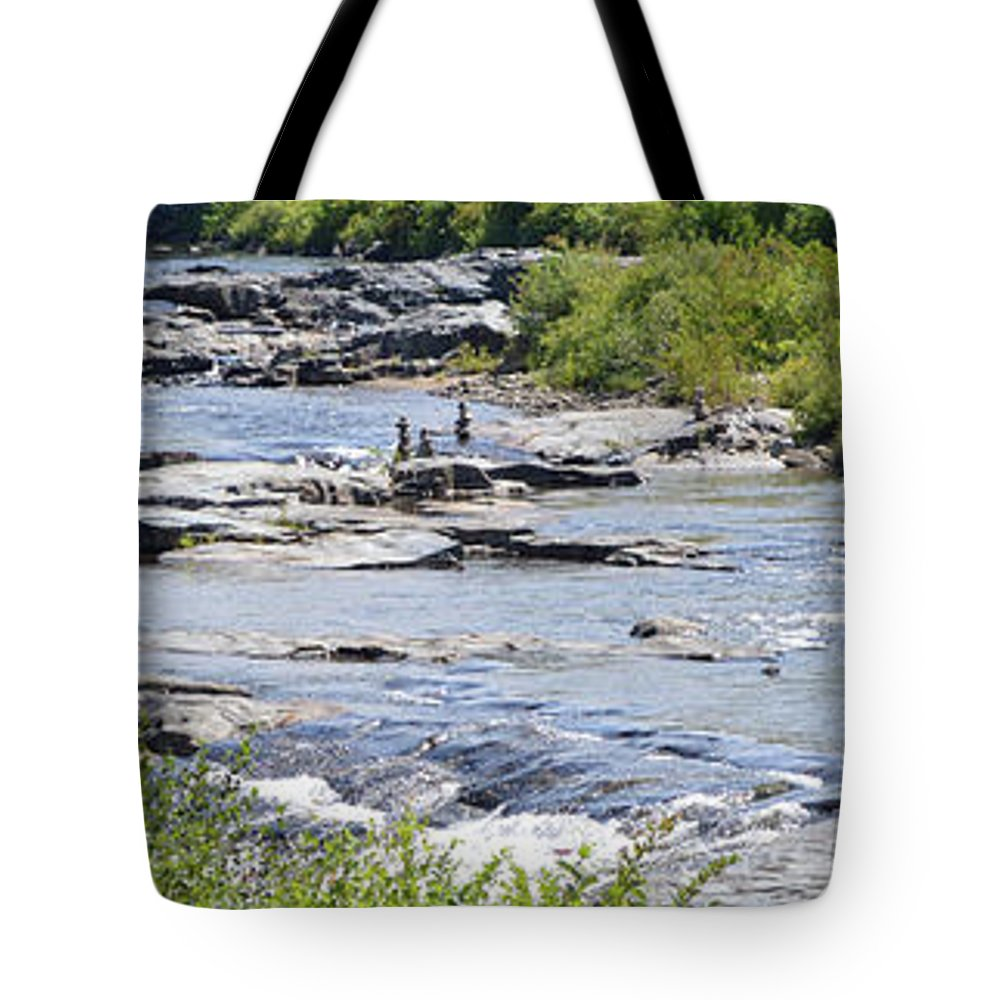 New Hampshire Tote Bag featuring the photograph Ammonoosuc Sculptures by Meandering Photography