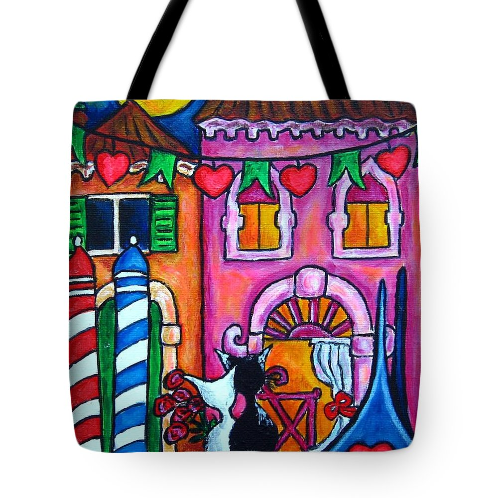 Cats Tote Bag featuring the painting Amore In Venice by Lisa Lorenz