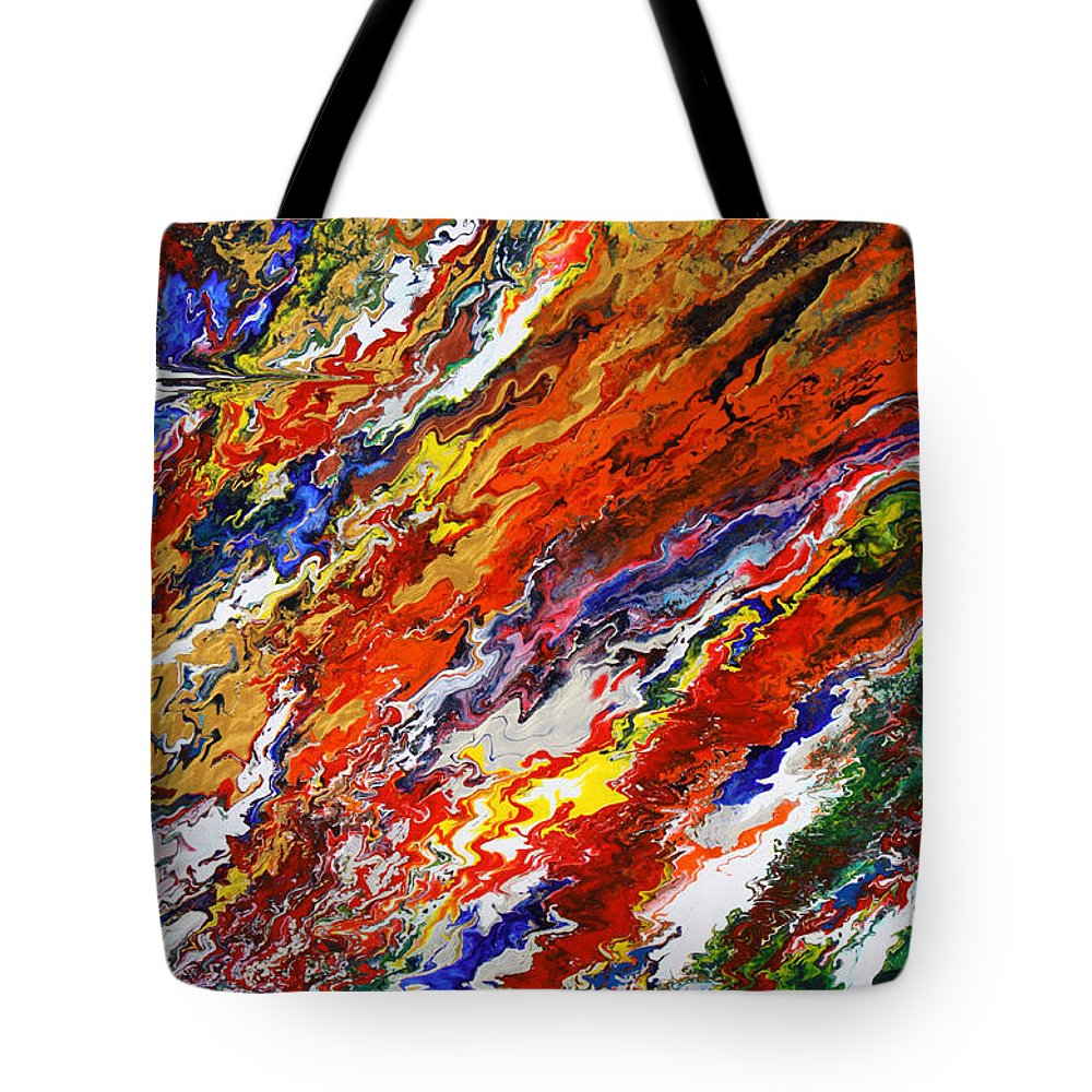 Fusionart Tote Bag featuring the painting Amplify by Ralph White
