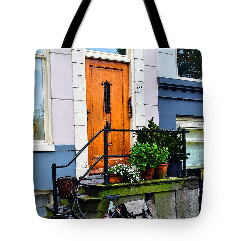 Amsterdam Tote Bag featuring the photograph Amsterdam Door by Jost Houk