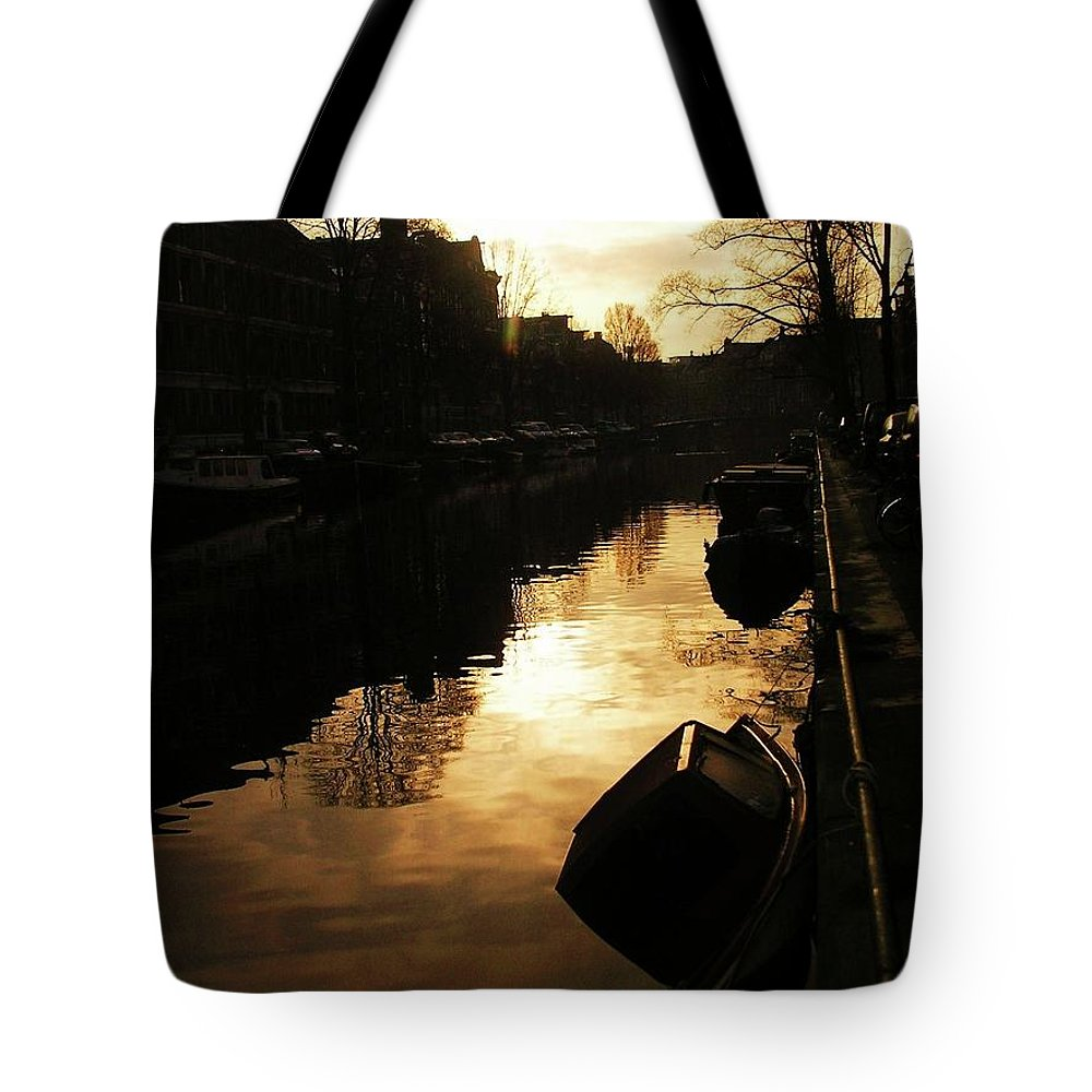 Landscape Tote Bag featuring the photograph Amsterdam Netherlands by Louise Macarthur Art and Photography