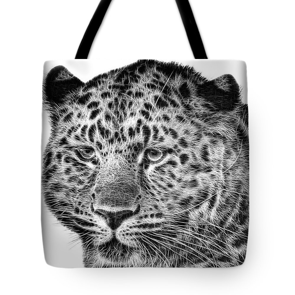 Snowleopard Tote Bag featuring the photograph Amur Leopard by John Edwards