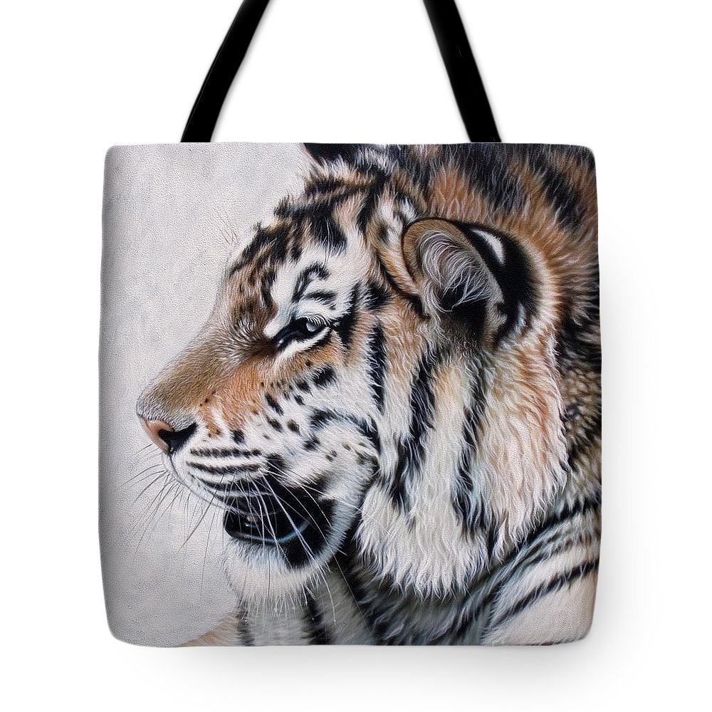 Acrylic Tote Bag featuring the painting Amur by Sandi Baker