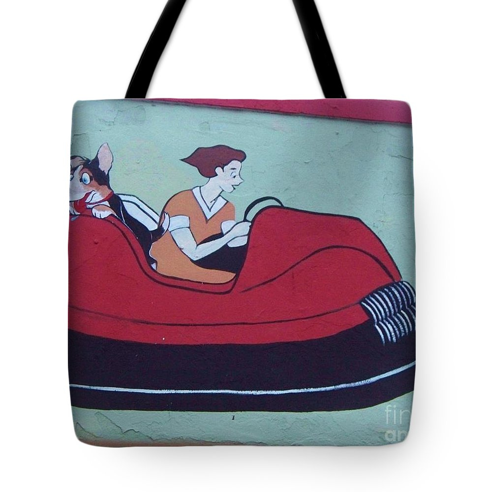 Amusements Tote Bag featuring the painting Amusement Art Asbury Park Nj by Eric Schiabor