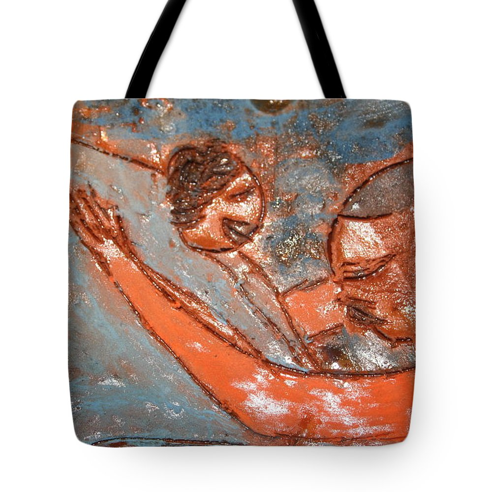 Jesus Tote Bag featuring the ceramic art Amuweese - Ile by Gloria Ssali