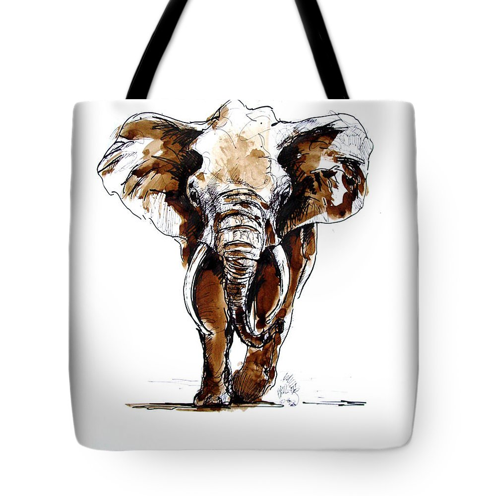 Wildlife Tote Bag featuring the drawing Amy Grown by Paul Miller