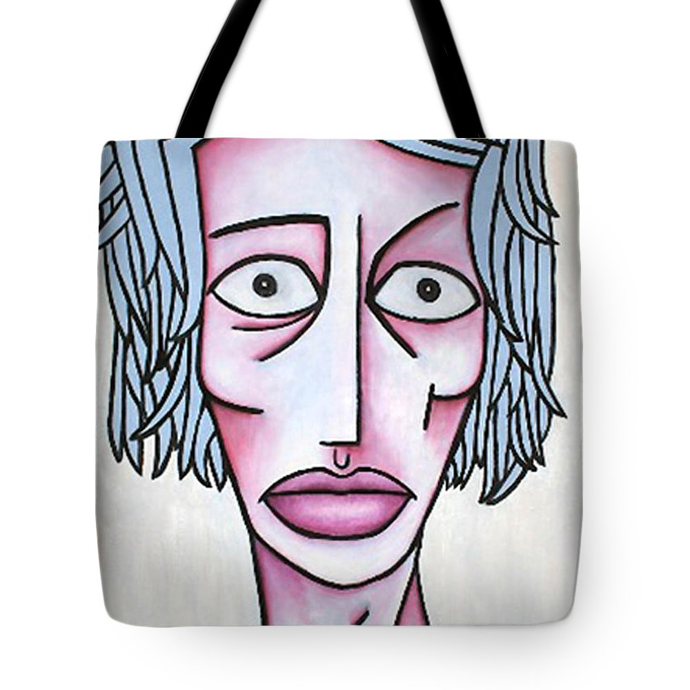Potrait Tote Bag featuring the painting amy by Thomas Valentine