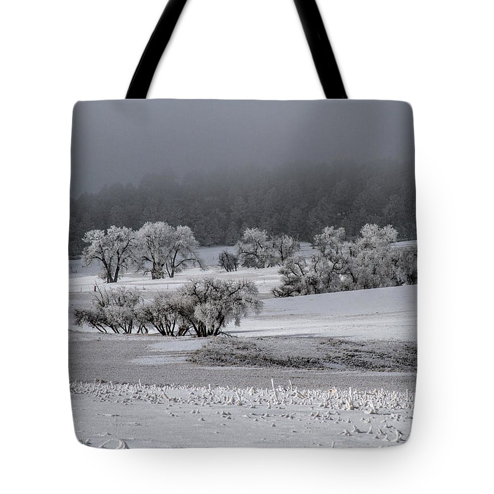 Winter Tote Bag featuring the photograph An Affair of Cottonwoods by Alana Thrower