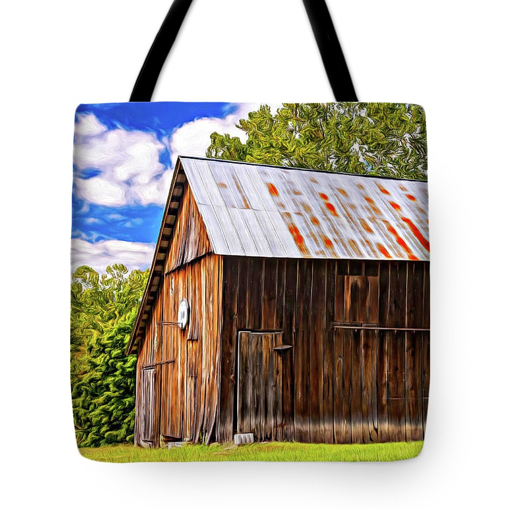 Sport Tote Bag featuring the photograph An American Barn 2 Painted by Steve Harrington