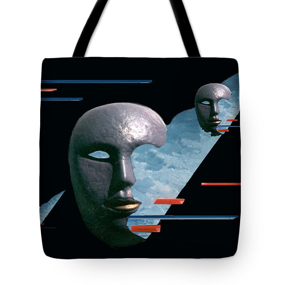 Surreal Tote Bag featuring the digital art An Androids Dream by Steve Karol