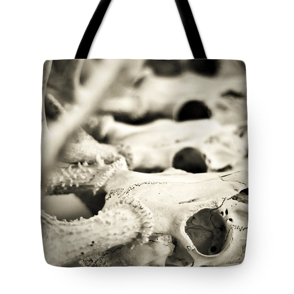 Mortality Tote Bag featuring the photograph An Echo Of Mortality by Rebecca Sherman