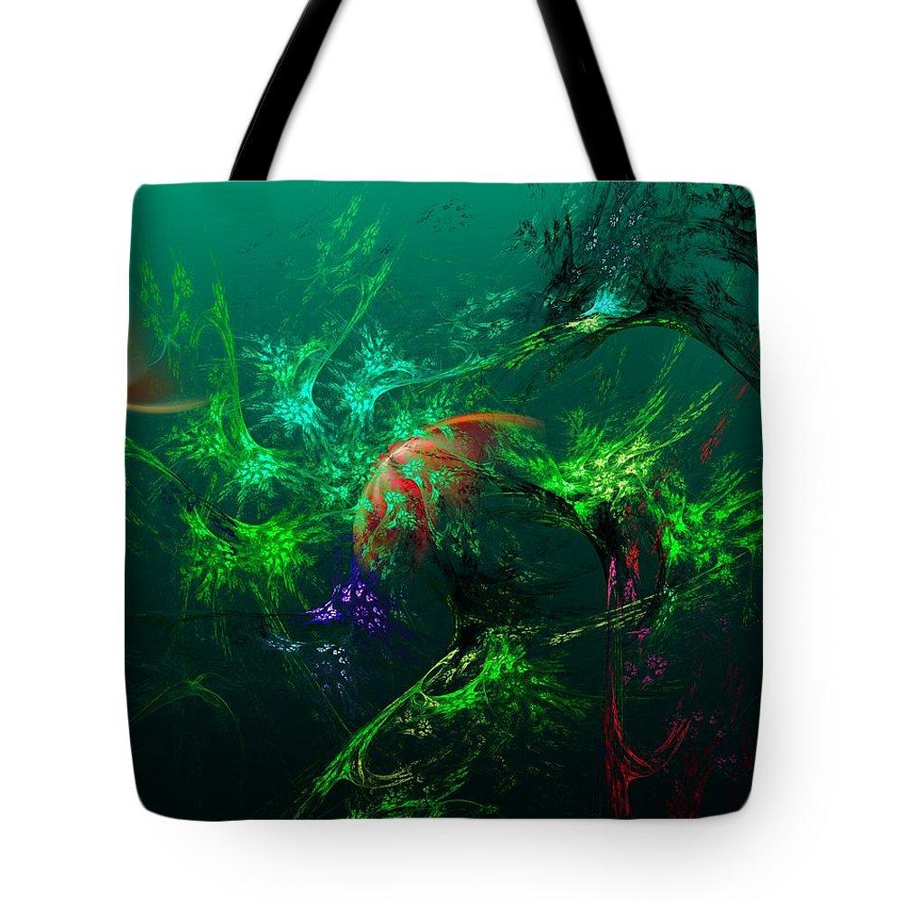 Fine Art Tote Bag featuring the digital art An Octopus's Garden by David Lane