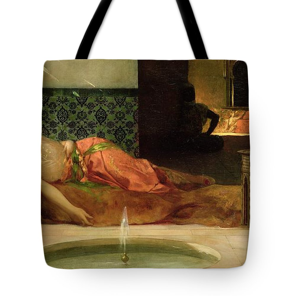 Odalisque Tote Bag featuring the painting An Odalisque In A Harem by Benjamin Constant