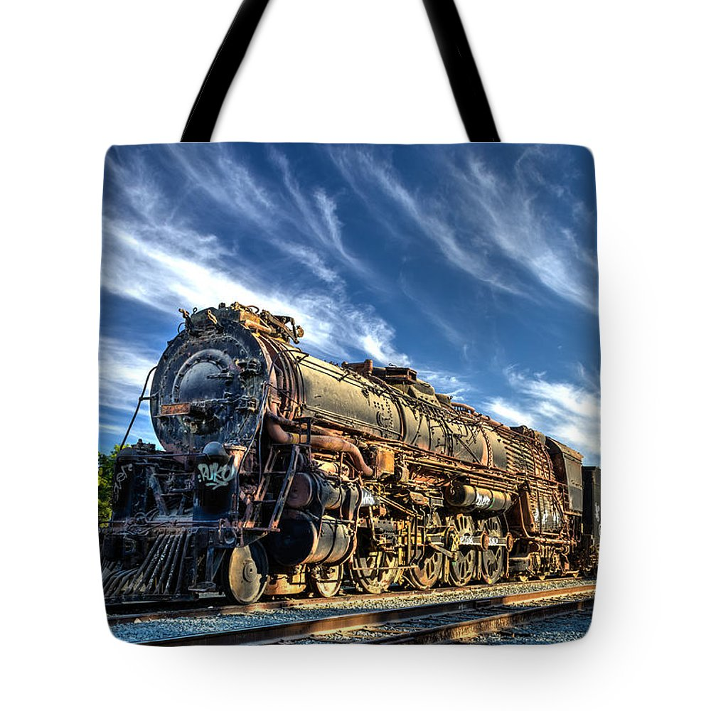 Steam Tote Bag featuring the photograph An Old Boy At Sunset by James Morris