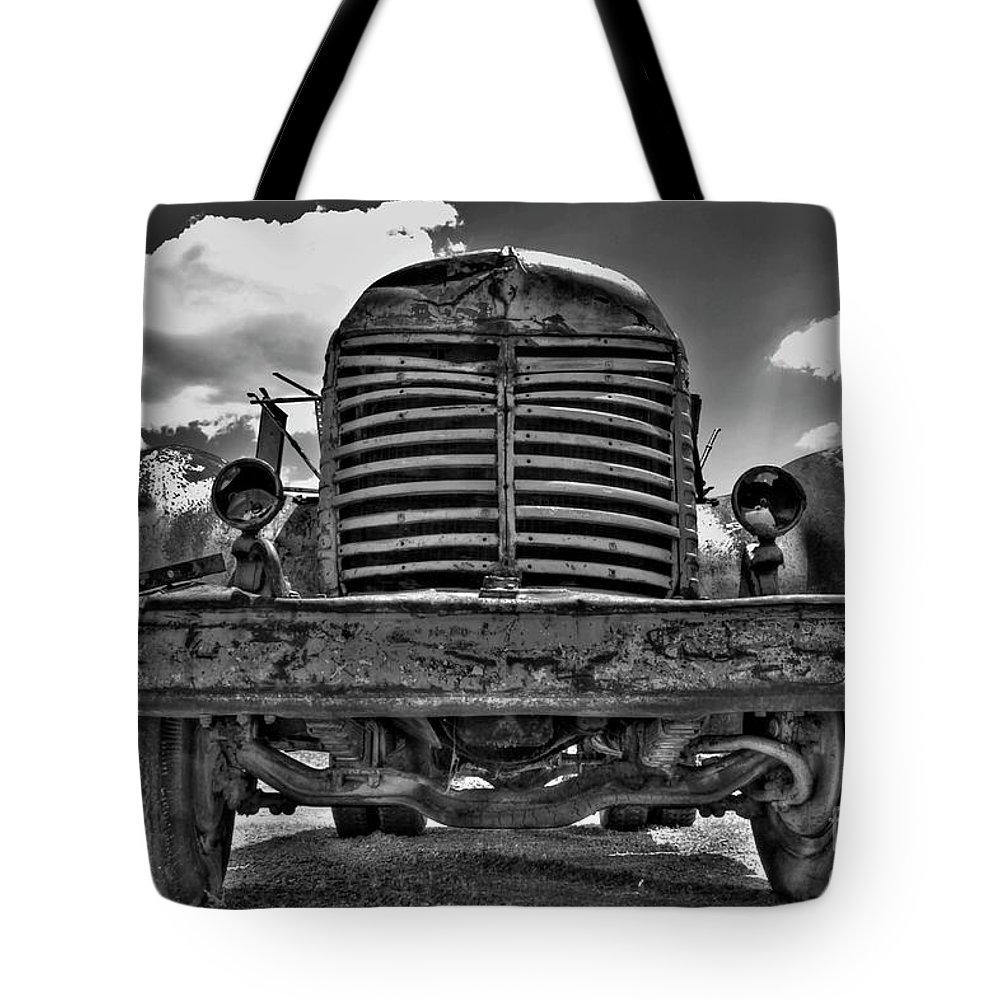 Truck Tote Bag featuring the photograph An Old International Truck by Tony Baca