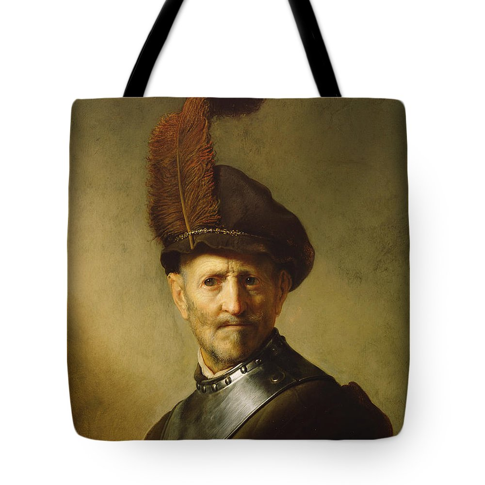 Rembrandt Tote Bag featuring the painting An Old Man In Military Costume by Rembrandt
