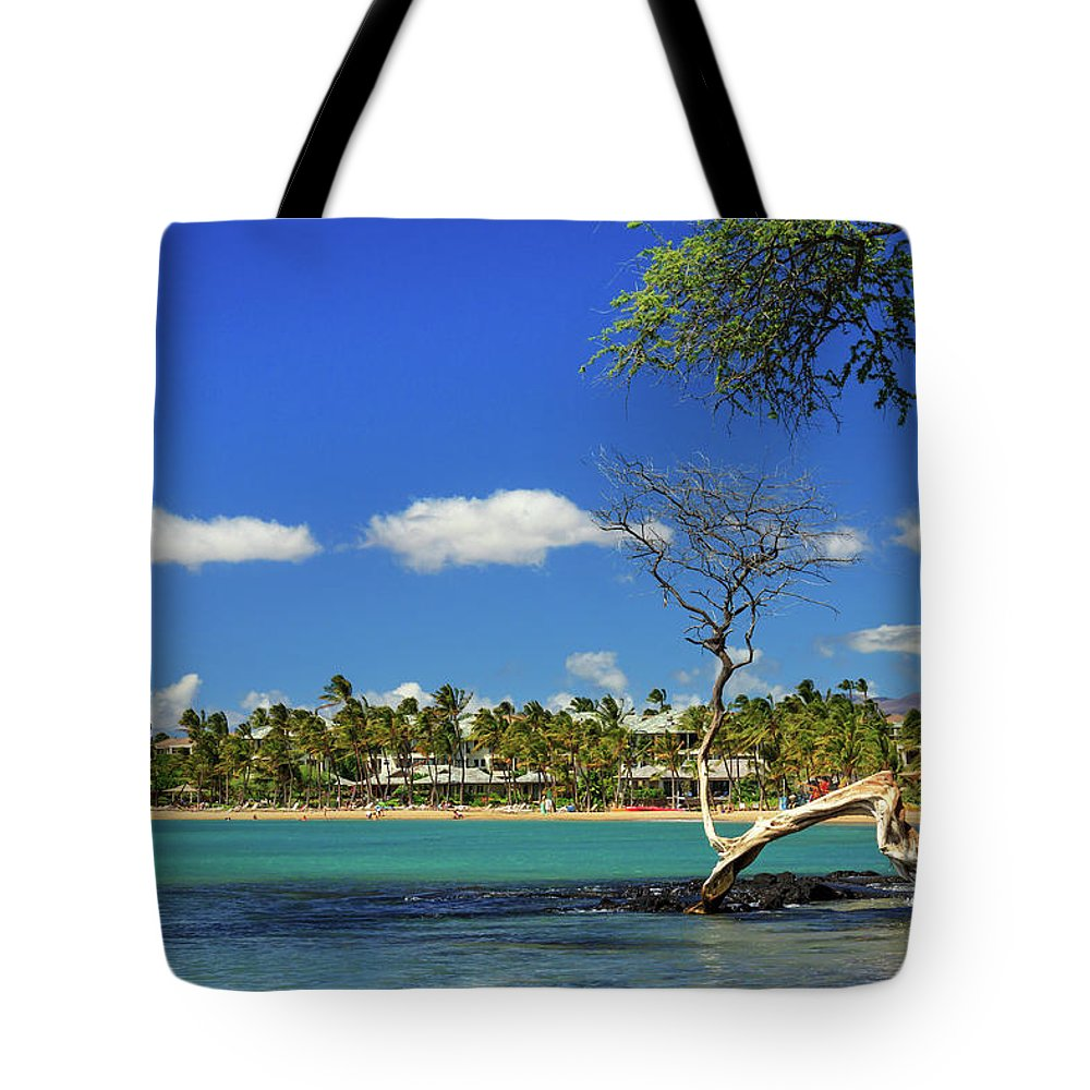 Bay Tote Bag featuring the photograph Anaehoomalu Bay by James Eddy