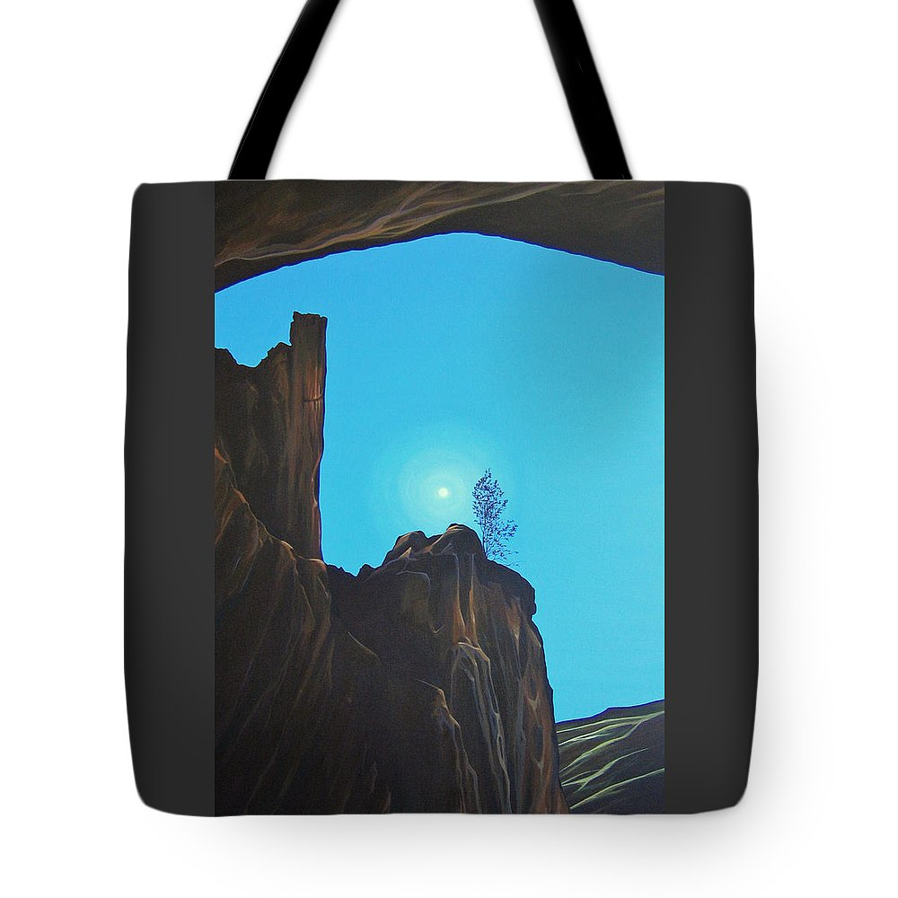 New Mexico Tote Bag featuring the painting Anasazi Dreams by Hunter Jay