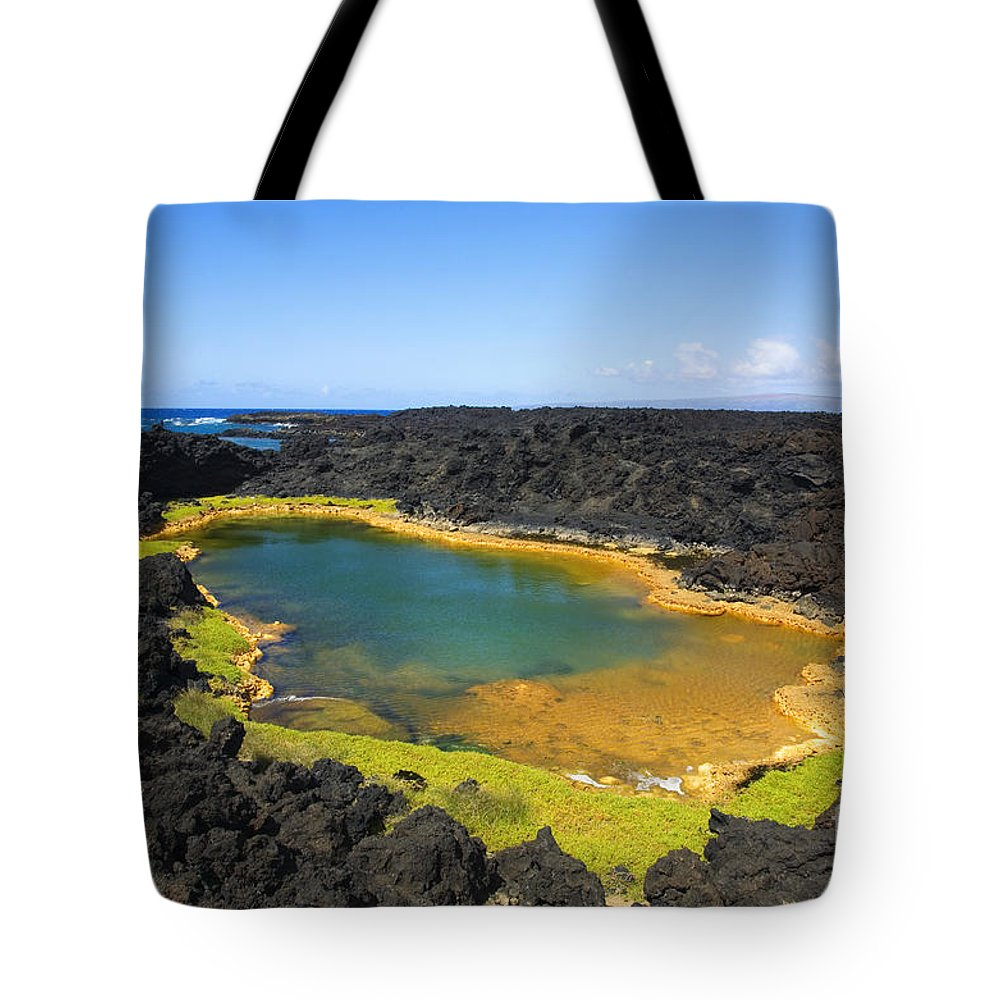 Ahihi Kinau Tote Bag featuring the photograph Anchialine Pond by Ron Dahlquist - Printscapes