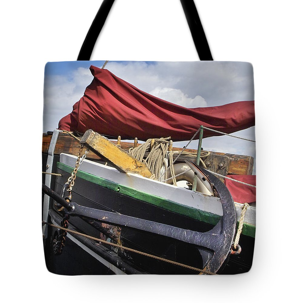 Sailboat Tote Bag featuring the photograph Anchors Up by Robert Lacy