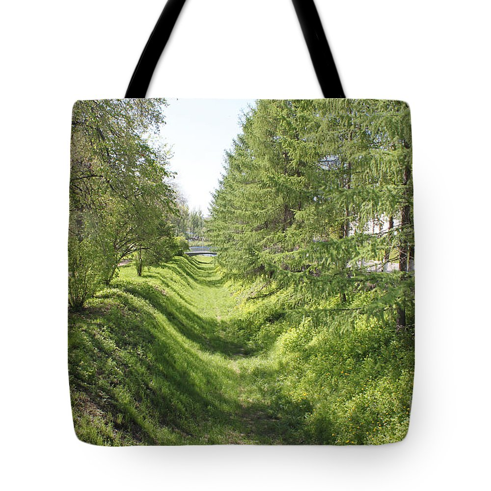 Ditch Tote Bag featuring the photograph Ancient Ditch by Evgeny Pisarev