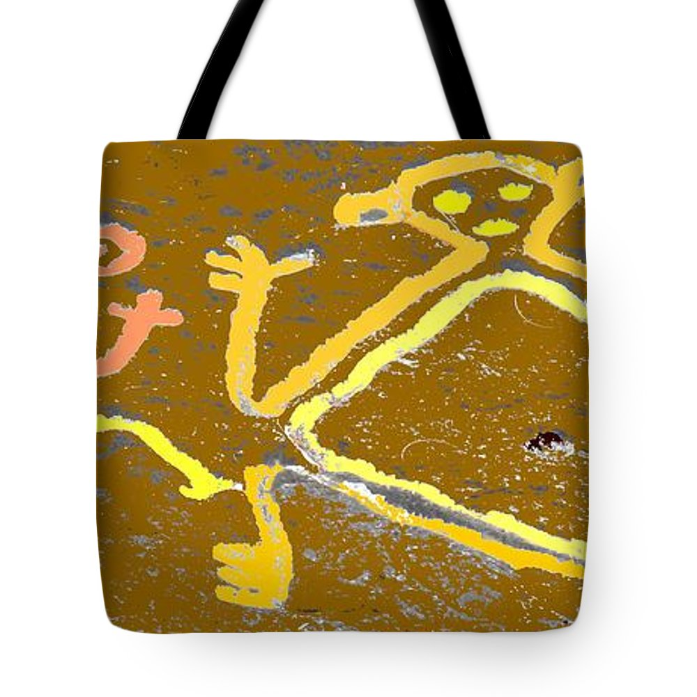 Native Tote Bag featuring the photograph Ancient Drawings by Ian MacDonald