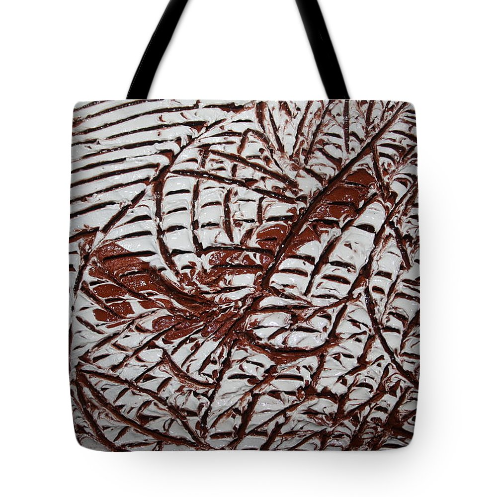 Jesus Tote Bag featuring the ceramic art Ancient Dreams - Tile by Gloria Ssali