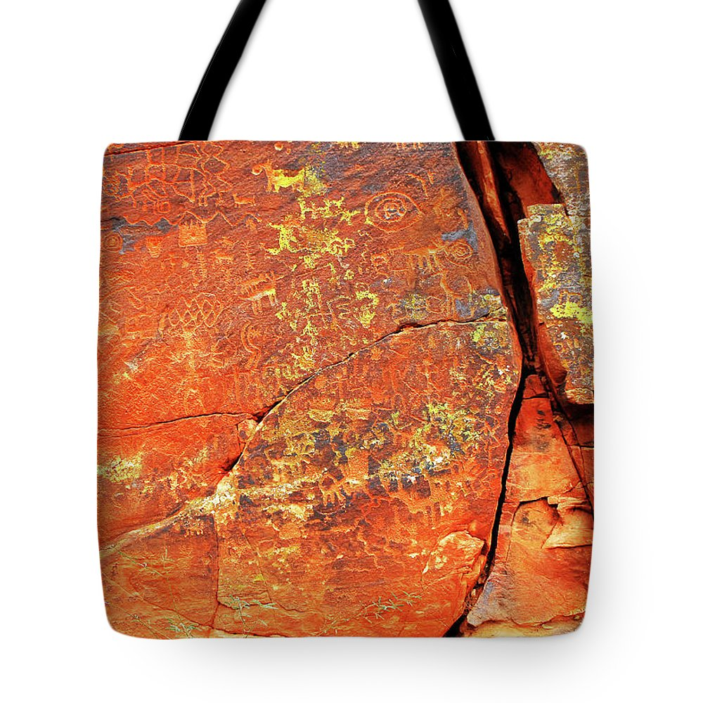 American Tote Bag featuring the photograph Ancient Scribeing by Howard Bagley