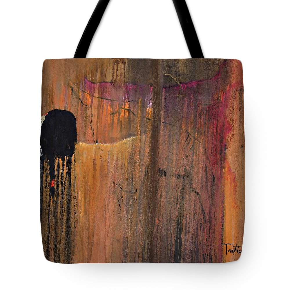 Culture Tote Bag featuring the painting Ancient Scripture by Patrick Trotter