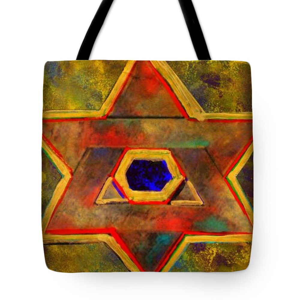 Ancient Star Tote Bag featuring the painting Ancient Star by Wbk