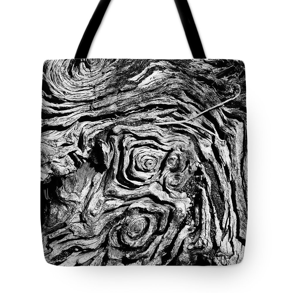 Tree Tote Bag featuring the photograph Ancient Stump by Christopher Holmes